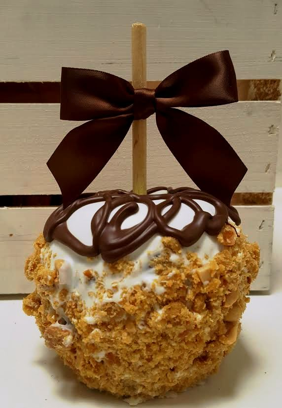 Peanut Brittle Caramel Apple